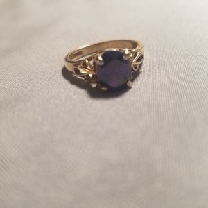 18K GERSC Gold Plated Amethyst Ring